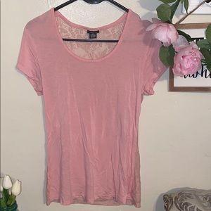 Rue 21 Light pink Top with back lace